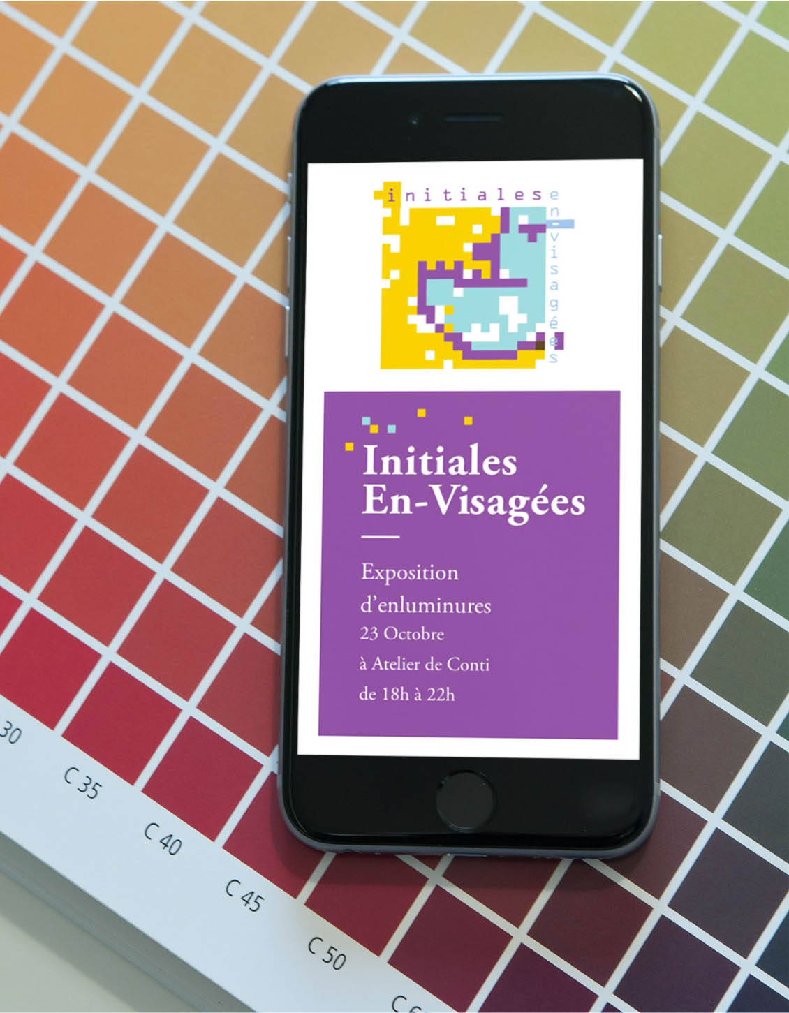Version mobile du site initiales en-visagées